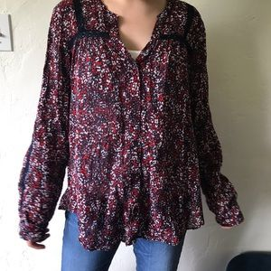 Gap Long-sleeved Floral Patterned Blouse (Size L)